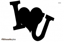 I Love You Silhouette Image And Vector