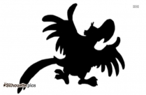 Cartoon Bird Silhouette Free Vector Clipart