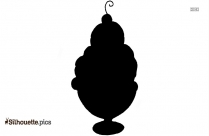 Ice Cream Sundae Silhouette Drawing
