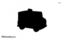 Monster Garbage Truck Silhouette Icon