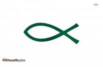 Ichthys Symbol Silhouette