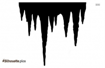 Icicle Silhouette Clip Art Image