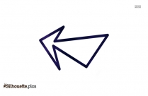 Icon Pencil Arrows Silhouette Drawing