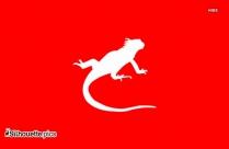 Running Lizard Silhouette Illustration