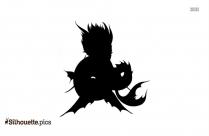 Image Mermaid Dragon Silhouette