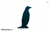 Chinstrap Penguin Silhouette Drawing