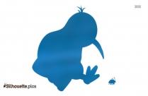 Kiwi Bird Cartoon Silhouette