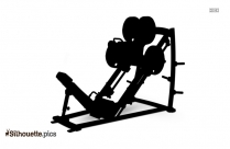 Incline Bench Flyes Silhouette Clipart