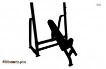 Incline Bench Press Silhouette Clip Art