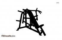 Cartoon Abdominal Leg Raise Silhouette