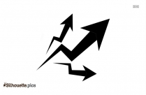 Increase Symbol Silhouette Vector And Graphics