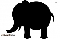 Baby Elephant Silhouette Image, Vector