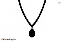 Necklace Pendant Stone Jewellery Silhouette