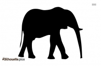 Indian Elephant Drawing Symbol Silhouette Image And Vector