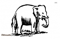 Cartoon Elephant Silhouette Clipart