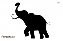 Dancing Elephant Outline Silhouette