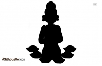 Indian Holi Celebration Silhouette