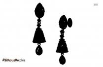 Indian Jhumka Earrings Silhouette Illustration