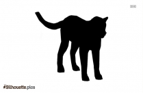 Indian Leopard Silhouette Art