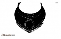 Indian Necklace Silhouette Picture