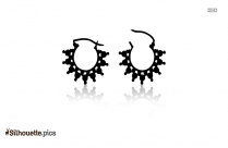 Indian Stud Earrings Silhouette Picture