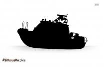Tanker Boat Cartoon Silhouette