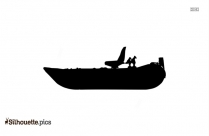 Boat And Oar Silhouette Drawing