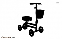 Injury Scooter Silhouette Drawing