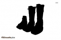 Injury Walking Boot Clipart Silhouette