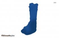 Injury Walking Boot Silhouette Drawing