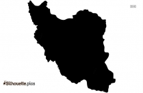 Iran Country Map Silhouette Clip Art