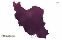 Iran Map Silhouette Image And Vector