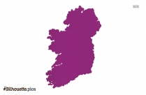 Ireland Map Silhouette Vector And Graphics