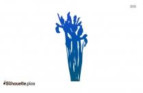 Iris Plant Silhouette Background