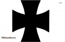Black Wrong Cross Symbol Silhouette Image