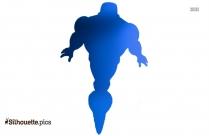 Iron Man Flying Cartoon Silhouette