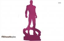 Iron Man Statue Silhouette