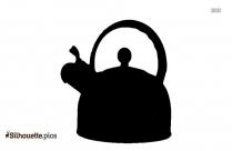 Iron Teapot Tea Infuser Vector Silhouette