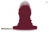 iron throne chair clipart silhouette