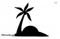Beach Umbrella And Chair Silhouette