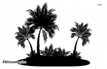 Palm Tree Island Clip Art Silhouette