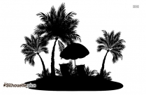 Ocean Beach Silhouette Image And Vector