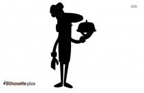 Cartoon Chef Silhouette Vector