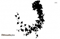Ivy Leaf Border Silhouette Clipart