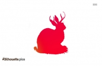 Antelope Head Hunted Silhouette