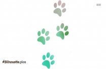 Red Paw Print Silhouette