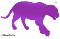 Jaguar Walking Silhouette