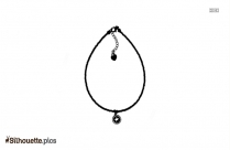 Shell Anklet Silhouette Drawing