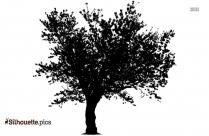 Black Cherry Tree Art Silhouette Image