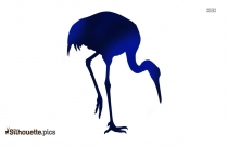 Sarus Crane Bird Silhouette